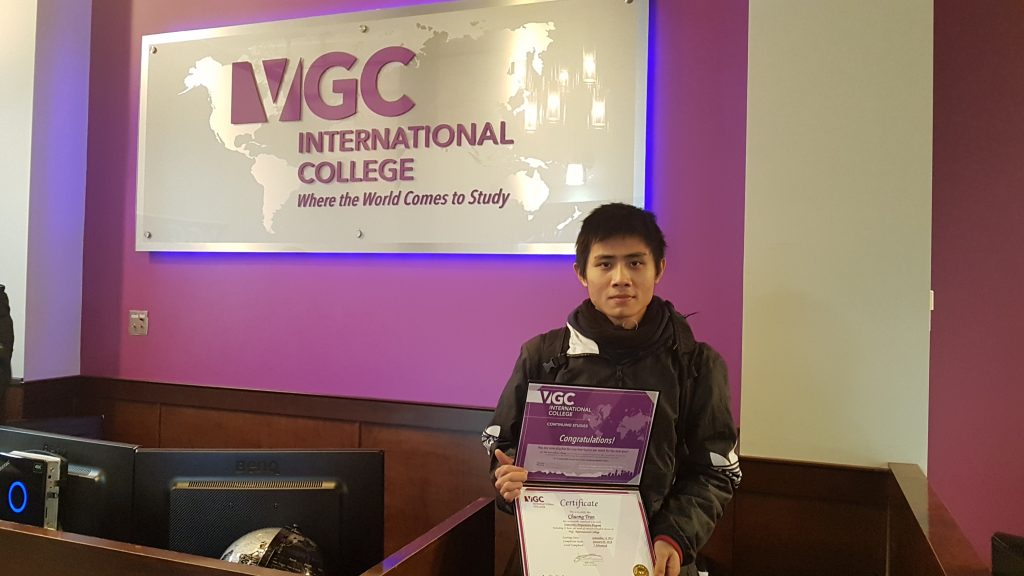 Student Story: Chuong's Experience in VGC's University Preparation Program