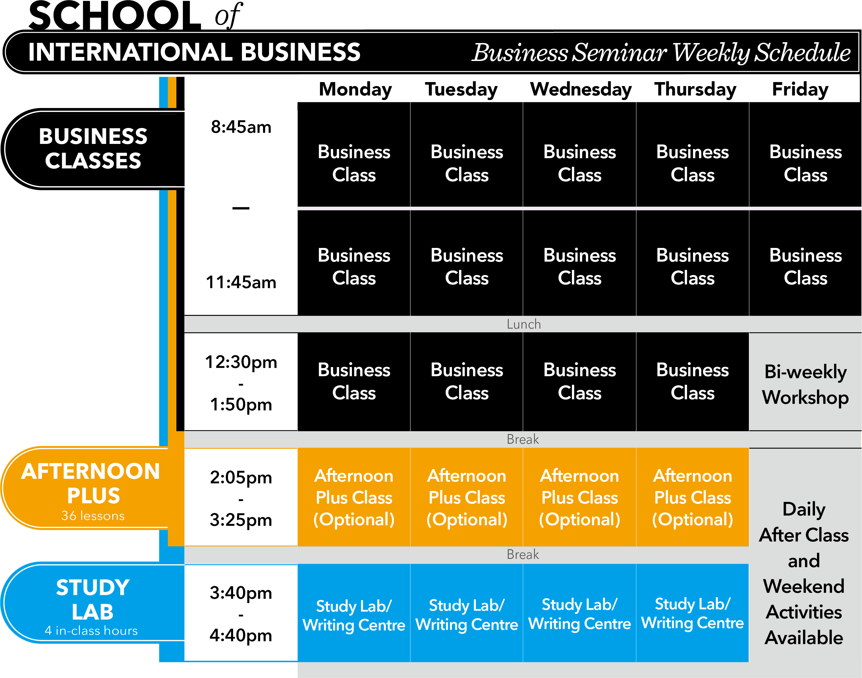 Business Programs And Schedule Vgc