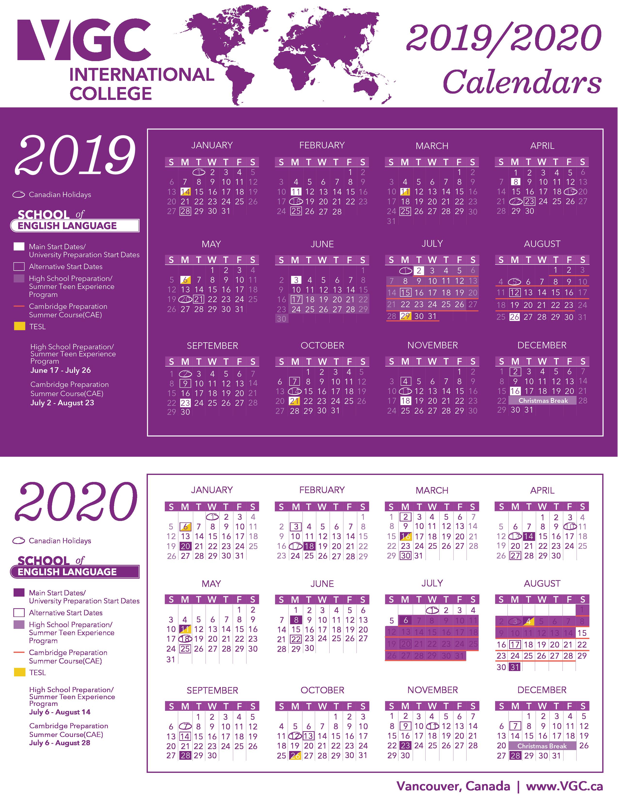 Calendario Coop 2020.Start Dates Vgc