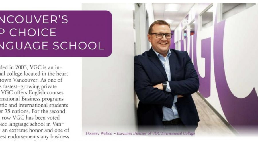 Top Language School Vancouver 2020: VGC featured in Top Choice Magazine