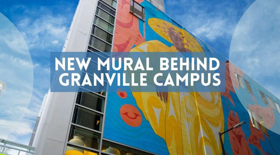 New laneway mural behind VGC's Granville Campus in Downtown Vancouver